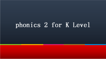 phonics 2 for K Level