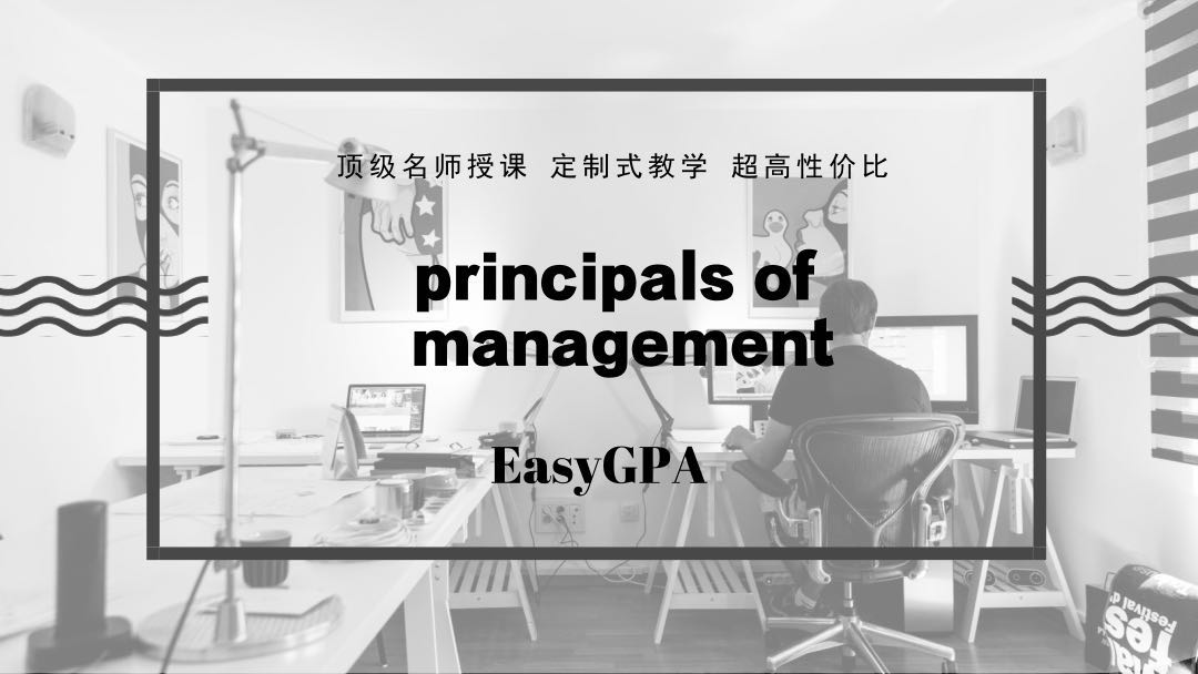 principals of management海外辅导