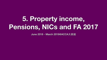 5 Property income, Pensions and NICs