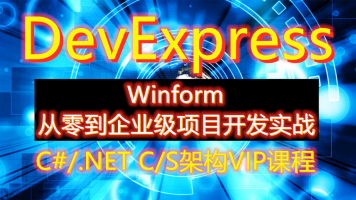 C#/.NET企业级CS架构高级Dev课程(Winform+DevExpress+SqlServer)