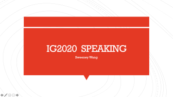 General English IG2020 Speaking