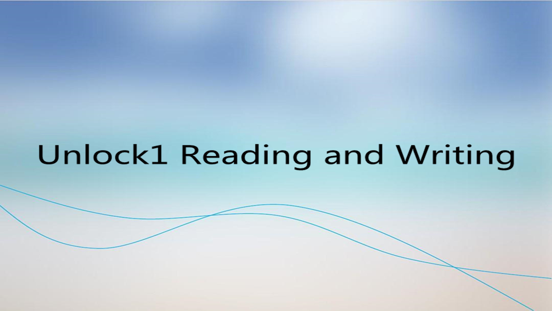 Unlock1 Reading and Writing
