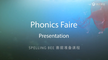 Phonics faire―Presentation