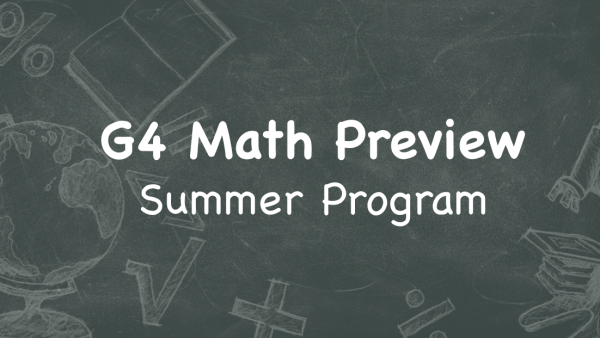 G4 Math Preview Summer Program
