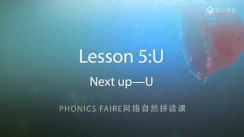 Phonics Faire―Lesson 5《Next up―U》