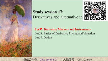 CFA 1 Derivatives