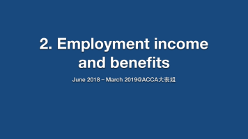 2. Employment income and benefits